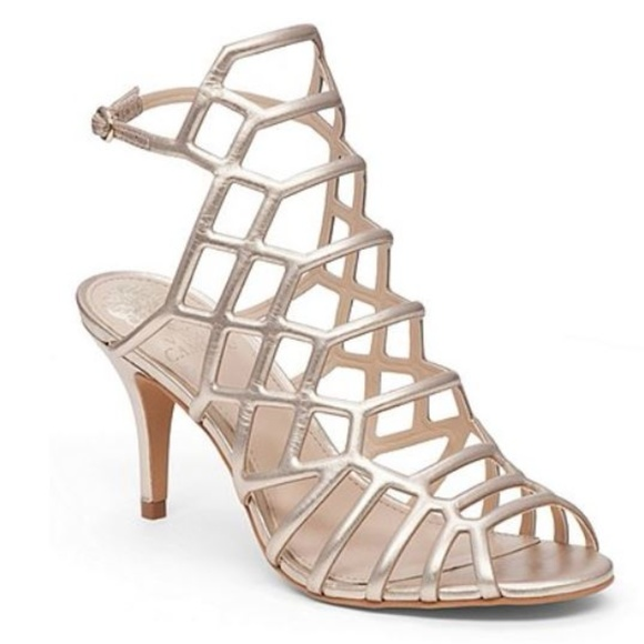 Paxton Caged Metallic Leather Sandals yFLV4s